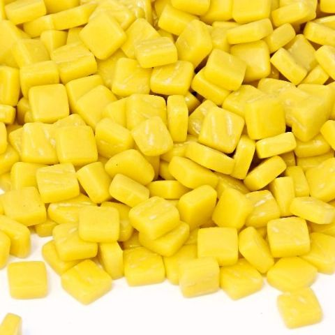 8mm Square Tiles - Lemon Gloss - 50g